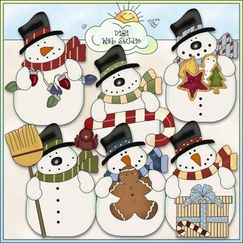 Funny Snowmen Clip Art - Christmas Snowman Clip Art - CU C