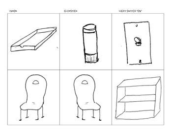 Furniture (Chairs, bookshelf. Misc: glue stick, inbox, and