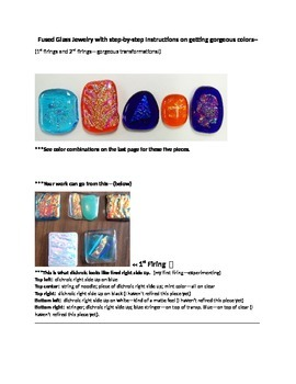 Fused Glass Jewelry--before and after gorgeous transformat