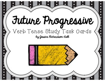 Future Progressive Verb Tense Study Task Cards