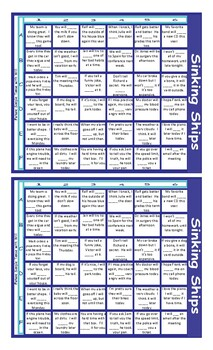 Future Simple Tense with Will Battleship Board Game