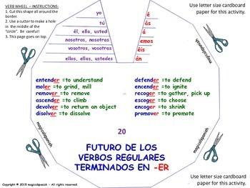 Future Tense (2). Spanish Verb Conjugation. Verb Wheels. P