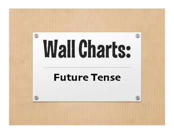 Spanish Future Tense Wall Charts