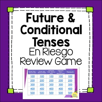 Future and Conditional Tense Jeopardy-inspired Editable Re