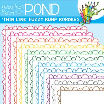 Borders - Fuzzy Bump THIN - Clipart Frames for Teaching Files