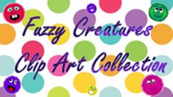 Fuzzy Creatures Clip Art Collection
