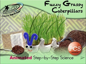 Fuzzy Grassy Caterpillars - Animated Step-by-Step Science PCS
