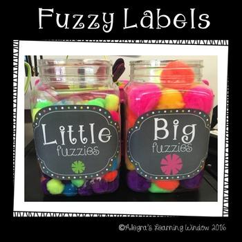 Fuzzy Labels Freebie