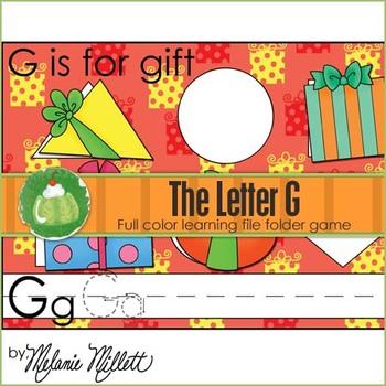 G is for Gift File Folder Game