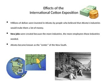 Georgia Studies Cotton Exposition Power Point