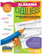 Alabama Dailies: 180 Daily Activities for Kids