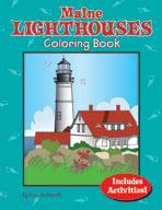 Maine Lighthouses Coloring Book