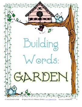 GARDEN Building Words with Task Cards and Scoot