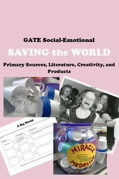 GATE Social-Emotional - SAVING the WORLD reading writing p