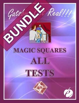 "GATSBY - ""Magic Squares Tests/Quizzes"" BUNDLE:  ALL Chapte"