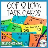 GCF and LCM Task Cards - Self Check