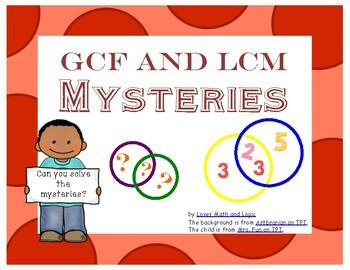 GCF and LCM Task Cards (Using Venn Diagrams)