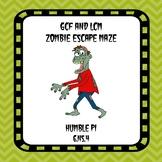 GCF and LCM Zombie Escape Maze- 6.NS.4