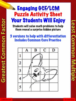 GCF and LCM differentiated worksheets with common core practice