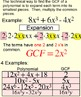 GCF of Polynomials, Student Reference & 3 Assignments for