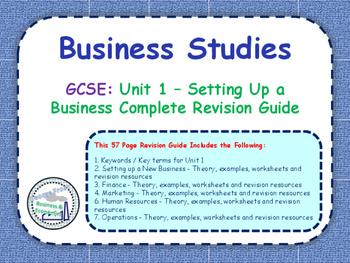GCSE Business Studies - Complete Revision Guide - Unit 1: