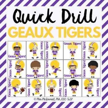 GEAUX TIGERS Quick Drill {for my LSU peeps!}