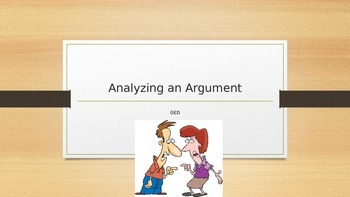 GED Analyzing an Argument- Extendend Response