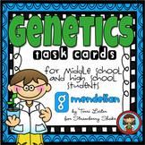 GENETICS Task Cards for Middle and High School Biology Lif