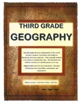 GEOGRAPHY - globe, map, continents, oceans, directions, co