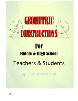 GEOMETRIC CONSTRUCTIONS - BUNDLED LESSONS FOR HIGH SCHOOL