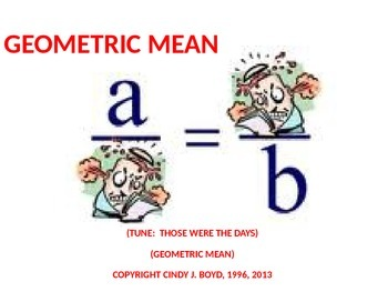 GEOMETRIC MEAN SONG 2