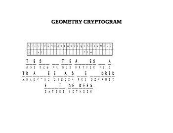 GEOMETRY CRYPTOGRAM