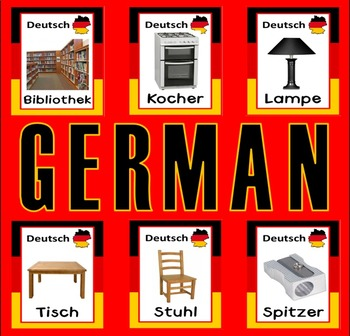 GERMAN AND ENGLISH FLASHCARDS LANGUAGE TEACHING RESOURCES