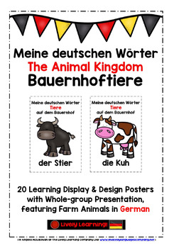 GERMAN FARM ANIMALS - 40 DISPLAY & DESIGN POSTERS / PRACTICE