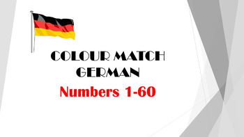 GERMAN - COLOUR MATCH - Numbers 1 - 60
