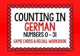 GERMAN NUMBERS 0-31 - Games & Activities Mini-Pack