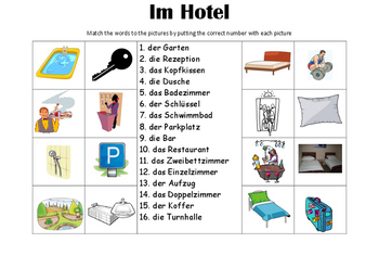 GERMAN - Picture Match - Im Hotel (hotel)