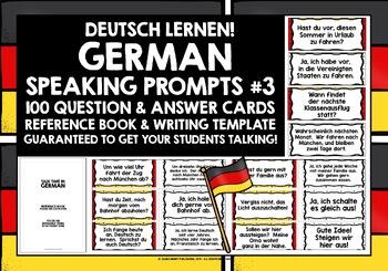 GERMAN SPEAKING PRACTICE (3) - 50 Q & A PROMPT CARDS - SEP
