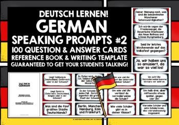 GERMAN SPEAKING PRACTICE (2) - 50 PROMPT CARDS - CONVERSAT