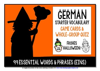 GERMAN STARTER VOCABULARY (1) - HALLOWEEN EDITION - GAMES