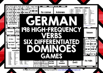 GERMAN VERBS (1&2) - SIX DIFFERENTIATED DOMINOES GAMES