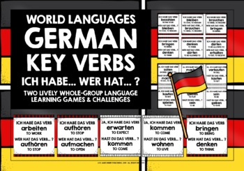 GERMAN VERBS (1) - I HAVE, WHO HAS? 2 GAMES & CHALLENGES!