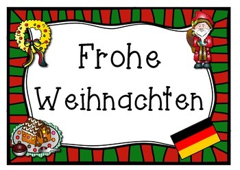 GERMAN  merry christmas poster  FROHE WEIHNACHETN