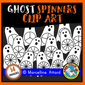 GHOST SPINNERS CLIPART: HALLOWEEN CLIPART: AUTUMN CLIPART