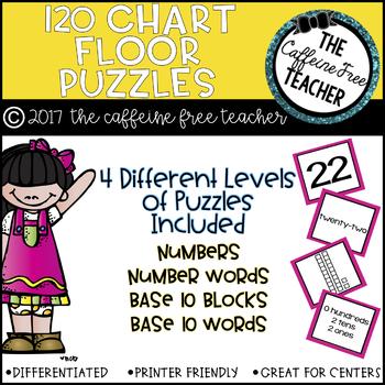 GIANT 120 Chart Floor Puzzles