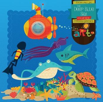 Marine Life Ocean clip art