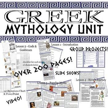 GIANT Greek Mythology Unit