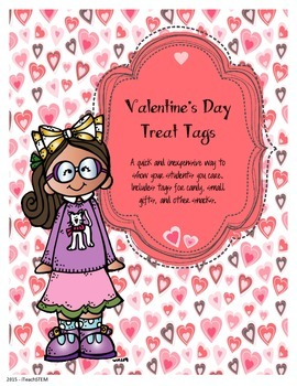 GIFT - Valentine's Day Treat Tags/Stickers for Students