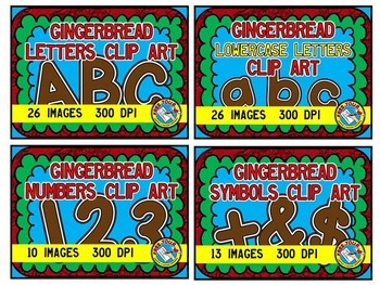 CHRISTMAS CLIPART: GINGERBREAD CLIPART BUNDLE: GINGERBREAD