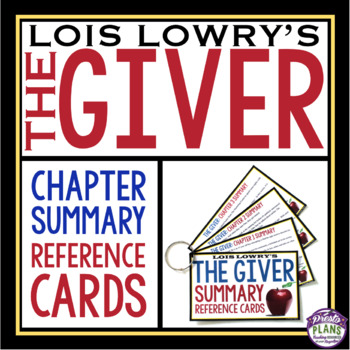 GIVER CHAPTER SUMMARY CARDS